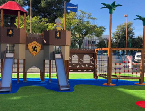 Instalar césped artificial en zona de juegos infantiles