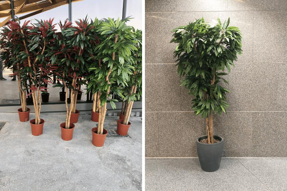 plantas artificiales para jardines y exteriores
